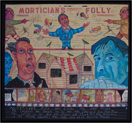 Morticians Folly painting by painter Bruce Thayer