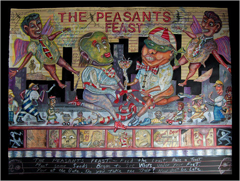 Peasants Feast  painting by painter Bruce Thayer