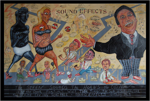 Sound Effects  painting by painter Bruce Thayer