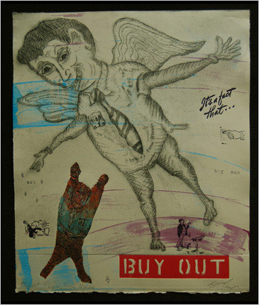 Buy Out print by print maker Bruce Thayer