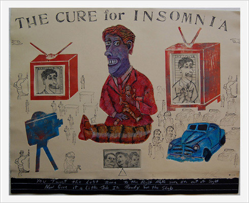 Cure for Insomnia print by print maker Bruce Thayer