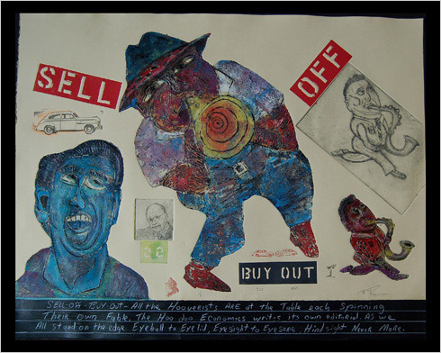 Sell Off print by print maker Bruce Thayer