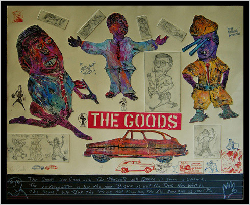 The Goods print by print maker Bruce Thayer