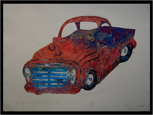 Truck That Could print by printmaker Bruce Thayer